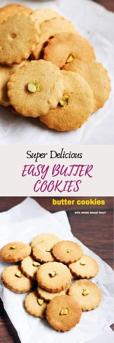 eggless butter cookies recipe with step by step photos. learn how to make crispy, melt in mouth healthy butter cookies with this easy recipe. Eggless Butter Cookies Recipe, Butter Biscuits Recipe, Italian Butter Cookies, Danish Butter Cookies, Gooey Butter Cookies, Almond Butter Cookies, Jam Cookies, Biscuit Recipe, No Bake Cookies