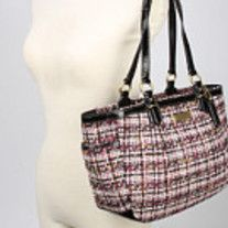 Authentic Coach Tweed Wool Gallery East West Tote Shoulder Bag Brand Condition Pre Owned Color Multi Style
