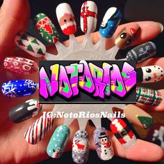 My holiday nail wheel follow me on Instagram or Twitter at notoriosnails