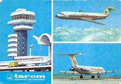 Tarom romanian air transport plane Tarom Airlines, Vintage Posters, Plane, Sweden, Postcards, Transportation, Aviation, Aircraft, Kitty