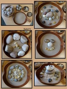 "Rocks, stones & pebbles activities to enjoy with young children - from Rachel ("",) Play Based Learning, Learning Through Play, Learning Centers, Early Learning, Tuff Spot, Sensory Activities, Preschool Activities, Nature Activities, Reggio Classroom"