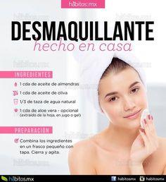 Desmaquillante casero al mejor estilo # danausorganic 🔝💕👸 Beauty Spa, Beauty Care, Beauty Hacks, Skin Tips, Skin Care Tips, Face Care, Body Care, Facial Tips, Foundation Tips