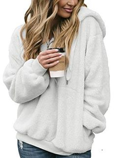 Cold Weather Outfits Hoodie Sweatshirts, Sweat Shirt, Cold Weather Outfits, Winter Outfits, Winter Clothes, Mantel, Clothes For Women, Fuzzy Pullover, Fleece Hoodie