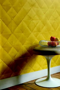 Wallcovering from Elitis, Pleats collection, Goodrich.(*Product available via Project Registration basis)