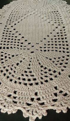Crochet Baby Blanket / Baby Pink and White Blanket /Open Weave Lace / Shower Gift / Newborn Prop / Free Crochet Doily Patterns, Crochet Designs, Crochet Carpet, Crochet Home, Lace Doilies, Crochet Doilies, Baby Blanket Crochet, Crochet Baby, Pineapple Crochet