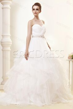 Gorgeous Sweetheart Tiered Chapel Angerlikas Wedding Dress