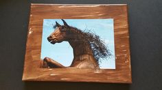 wall art, canvas, home decor, wall decor, photo on canvas, 8x10 canvas, horse, metal horse by DesertsandBeyond on Etsy