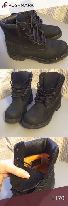 Women's 6 in black timberland boots Size 6. Authentic and never worn. Will sell cheaper off app. Timberland Shoes Winter & Rain Boots
