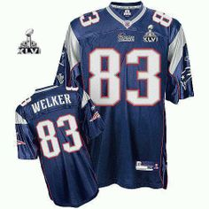 New England Patriots #83 Wes Welker 2012 Super Bowl XLVI Jersey blue (GYM)