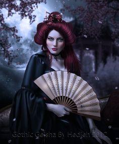 Gothic Geisha by =Unfeigned-Dreams on deviantART