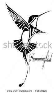 Stock Vector Tribal Hummingbird Silhouette Tattoo Save To A