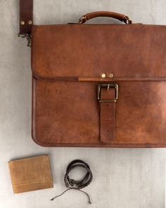 Awesome leather products for men created by our artisans in India!!  (Leather Traveler's Wallet, Craftsman Leather Bracelet Set (2), Alden Messenger Bag)