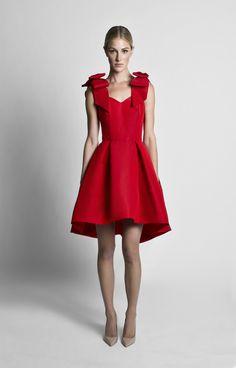 Silk Faille Bow Strap Dress