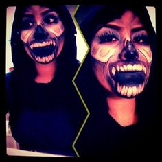 #monster #demon #facepaint #art #faceart #makeup #makeupart #paint #love #horror #gore #liquidlatex #costume #halloween