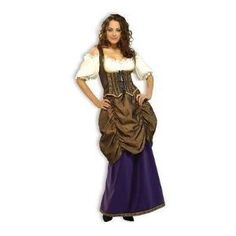 Deluxe Pirate Wench Lady's Costume! Size 12-16: Amazon.co.uk: Toys & Games