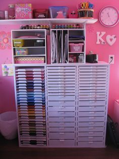 Organization for scrap booking paper