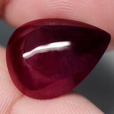 20.74CT.SPECTACULAR! PEAR CAB TOP BLOOD RED NATURAL RUBY MADAGASCAR  | eBay