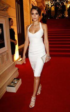 She always looks so stunning! this dress is amazing!  Jessica Alba Wears the Cutout Trend: Jessica Alba's Style Lookbook - Lookbooks, Photos | ModaMob