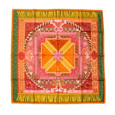 Hermes Silk Scarf Foulard Carre 'Sur Un Tapis Volant' | From a collection of rare vintage scarves at http://www.1stdibs.com/fashion/accessories/scarves/