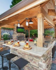 37 Stunning Gazebo Decorating To Make Your Backyard. Install an outdoor gazebo and revel in your backyard like you can't ever have before. If you think that your backyard is too open to curious onlookers. Backyard Gazebo, Backyard Patio Designs, Backyard Landscaping, Backyard Ideas, Modern Backyard, Cozy Backyard, Terraced Backyard, Backyard Playground, Pavillion Backyard