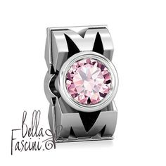 7f44deaf8 Mom Mothers Appreciation Gift Bead Charm - Pink CZ - Sterling Silver - Fits  Pandora and Compatible Brand Bracelets - BELLA FASCINI® F-37N