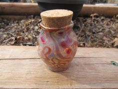 Handmade Lampwork Spice Jar/Stash Jar by LampworkBench on Etsy