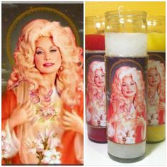Saint Dolly Parton Prayer Candle Religious by GreaserCreatures