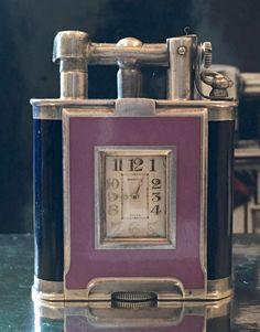 Dunhill 2 Tone Hard Glass Enamel B Size Watch Lighter