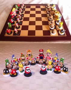 Mario Chess set @Paige Hereford Hereford Huffstutler @Summer Olsen Olsen Olsen Huffstutler