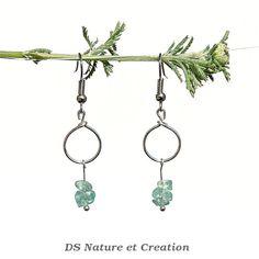 Apatite earrings fashion minimalist by DSNatureetCreation on Etsy