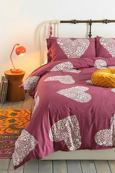 Plum & Bow Sweetheart Duvet Cover - Urban Outfitters