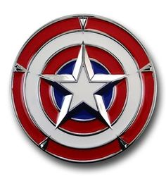 Captain America 3D Star Shield Belt Buckle