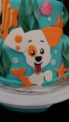 This Bubble Puppy cake detail is so cute! Bubble Guppies Cake, Bubble Guppies Birthday, Second Birthday Ideas, 3rd Birthday Parties, 2nd Birthday, Kids Birthday Crafts, Crafts For Kids, Puppy Cake, Cake Pops