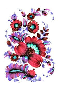 Петриковская роспись Petrikovka One Stroke Painting, Silk Painting, Polish Folk Art, Ukrainian Art, Primitive Folk Art, Mexican Folk Art, Pattern Illustration, Pottery Painting, Clay Paint