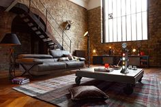 Home House Interior Decorating Design Dwell Furniture Decor Fashion Antique Vintage Modern Contemporary Art Loft Real Estate NYC Architecture Inspiration New York YYC YYCRE Calgary Eames - Fox Home Design Industrial Living, Industrial Interiors, Industrial Loft, Industrial Design, Vintage Industrial, Rustic Loft, Vintage Interiors, Industrial Industry, Modern Rustic