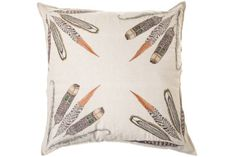 Coral & Tusk Feather Cluster Cushion | artillery | Interior Gothenburg