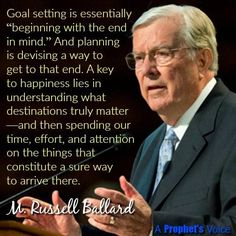 """""""A key to happiness lies in understanding what destinations truly matter. ... [And] our greatest and most overriding goals should fit into Heavenly Father's eternal plan."""" From #ElderBallard's http://pinterest.com/pin/24066179230275130 inspiring April 2017 #LDSconf http://facebook.com/223271487682878 message http://lds.org/general-conference/2017/04/return-and-receive #ShareGoodness"""