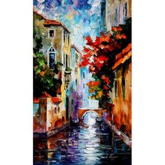 Morning in Venice PALETTE KNIFE Oil Painting On Canvas By Leonid Afremov
