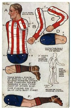 Footballer paper doll, The Paper Collector