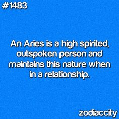 ARIES ARIES ARIES- And then imagine being an Aries married to an Aries...lol!