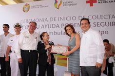 El gobernador y la señora Karime Macías de Duarte presiden inició de la Colecta Anual de la Cruz Roja 2011
