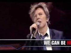 "David Bowie, "" Heroes"", live with lyrics."