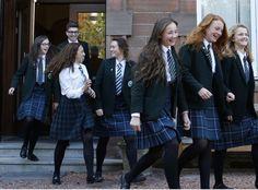 Catholic School Uniforms, Private School Uniforms, Cute School Uniforms, Girls Uniforms, Women Wearing Ties, Denmark Fashion, School Girl Dress, Black Pantyhose, Female Images