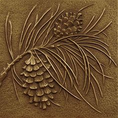 Art Deco Pine Cone Tile   artifaqt.com