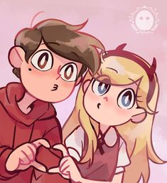 star vs the forces of evil Starco, Disney Xd, Cute Disney, Star E Marco, Star Comics, Star Butterfly, Butterfly Family, Sad Art, Cute Anime Couples
