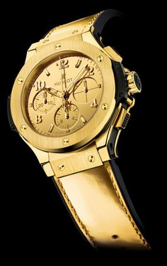 Hublot presents a brand new luxurious wristwatch inspired by the powerful symbolic and brilliance of gold - Hublot Big Bang Hublot Zegg & Cerlati Yellow Gold.