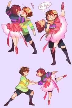 houdidesu: More dancing cause I can't help it they're so cute so just….lay… me down…. __(:3More Ballet!Frisk!   Twitter