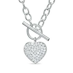 I LOVE chain heart necklaces