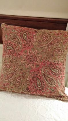 Pottery Barn Throw Pillow Green : Paisley on Pinterest Paisley, Paisley Pattern and Paisley Fabric