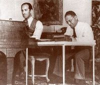 George & Ira Gershwin working on a song